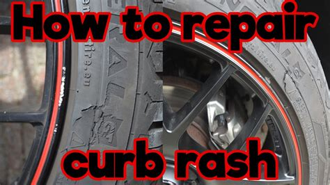 how to refurbish a how to repair curb rash on black rims
