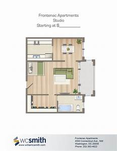 Studio, Efficiency, Floorplan, For, Rent