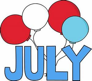 Free Month Clip Art | Red White and Blue July Clip Art ...