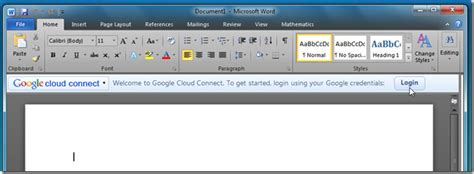 Google Cloud Connect Syncs MS Office 2010 Documents With ...