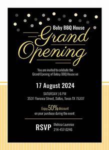 Create Invitation Card Free Download Grand Opening Invitation Card Template Download 344