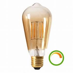 Ampoule Vintage Led : ampoule led e27 dimmable basse consommation compatible ~ Edinachiropracticcenter.com Idées de Décoration