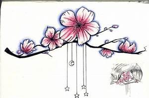 Dessin Fleur De Cerisier Japonais Noir Et Blanc : dessin fleur de cerisier et papillon tatouage fleur ~ Melissatoandfro.com Idées de Décoration