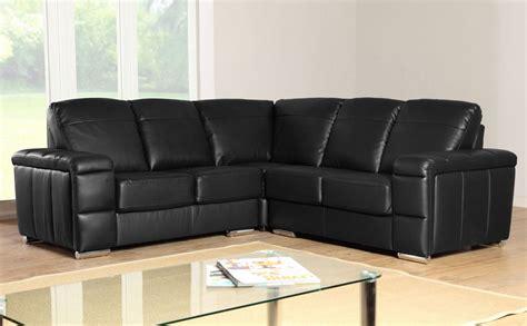 Leather Corner Settees by Plaza Black Leather Corner Sofa Settees Ebay