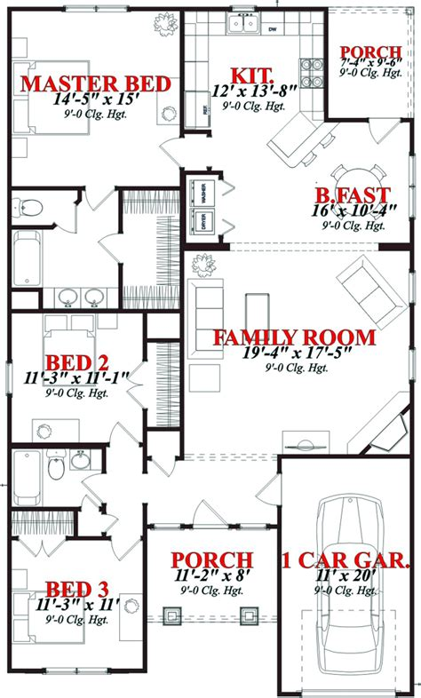 House Plan 78813 Contemporary Style with 1561 Sq Ft 3