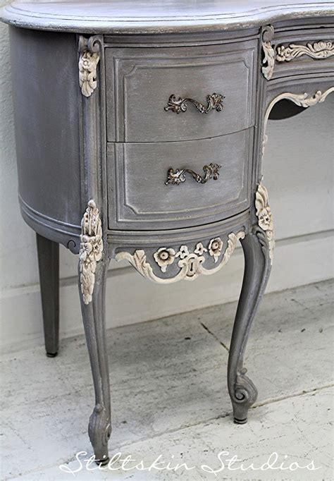 stiltskin studios weathered grey french desk  love