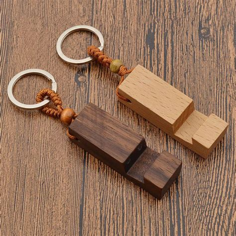 Accessoires Holz by Wood Phone Holder Stand Pendant Keychain Car