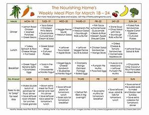 meal plan monday march 18 31 the nourishing home With two week meal plan template