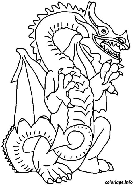 coloriage  dragon jecoloriecom