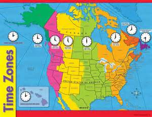 United States Time Zone Converter Chart