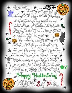 halloween note from santa claus rooftop post printables With santa claus letter uk