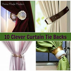 10 clever curtain tie backs home made modern for Curtain tie backs placement