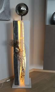 Große Buchstaben Deko : gs70 gro e gespaltene s ule dekoriert mit einer gro en edelstahlkugel nat rlichen materialien ~ Sanjose-hotels-ca.com Haus und Dekorationen