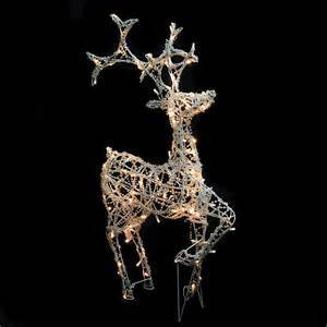 outdoor beaded effect running led reindeer light light up reindeer