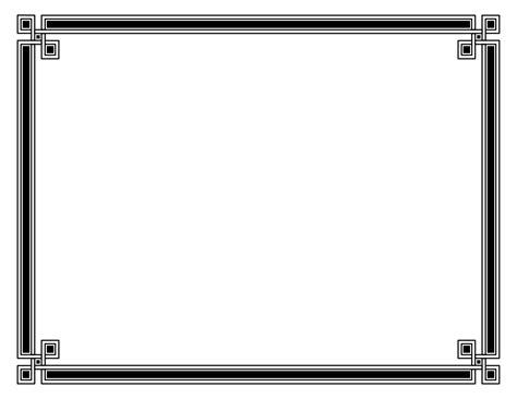 kleurplaten page border designs  certificates