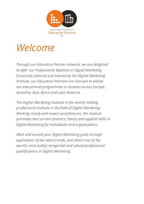 digital marketing diploma digital marketing diploma brochure 2016