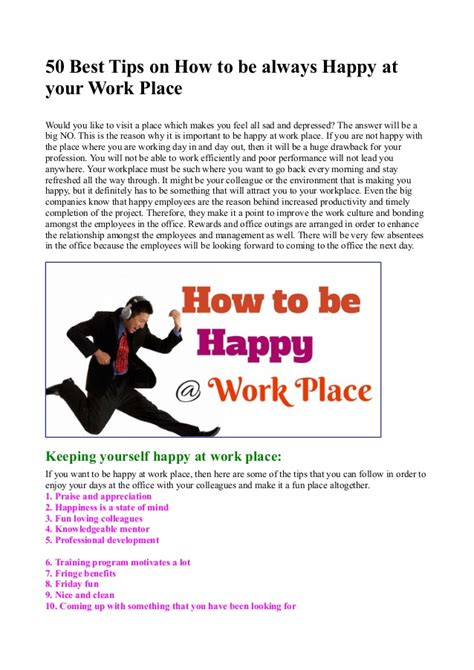 Why I Would Like To Work For This Company by 50 Best Tips On How To Be Always Happy At Your Work Place