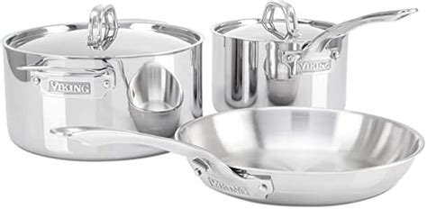 viking  ply stainless steel cookware set  piece amazonca home kitchen