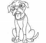Boxer Coloring Dog Pages Drawing Hungry Line Thin Face Police Dogs Template Getdrawings Sketch sketch template