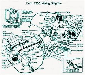 Ford 1936 Electrical System Wiring Diagram