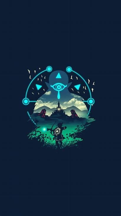 Zelda Phone Legend Wallpapers Backgrounds Botw Myconfinedspace