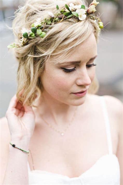 gorgeous wedding hairstyles  brides  short hair