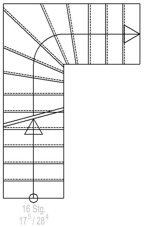 Treppe Grundriss Darstellung by Treppe Grundriss Darstellung Wohn Design