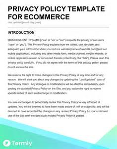 privacy policy template ecommerce free privacy policy templates website mobile fb app termly