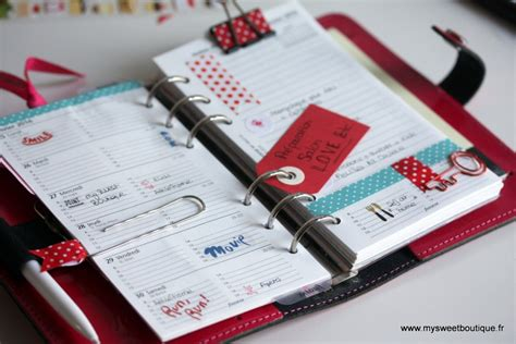diy personnaliser agenda ou planner