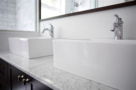 Square Overmount Kitchen Sink by Console Sink Contemporary Bathroom Benjamin