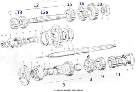 Wiring Diagram Triumph Tr25w by Gearbox Shafts And Gears Triumph Bsa Norton Royal Enfield