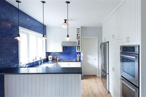 kitchen color  beautiful blue backsplashes