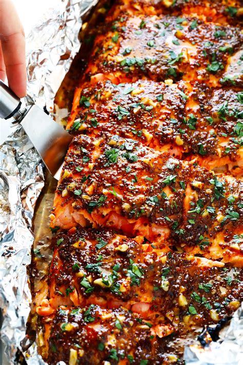 honey mustard salmon  foil gimme  oven