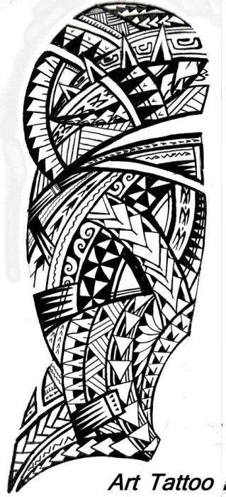 Black Polynesian Sleeve Tattoo Art Photo | Maori tattoo