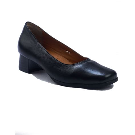 walford wscs leather shoes amblers walford leather black court shoes