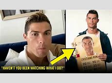 How Cristiano Ronaldo Reacted After Seeing His FIFA 19 Rating