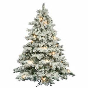 6 5 foot flocked alaskan christmas tree mini g50 lights a806369