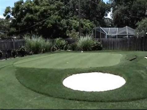 How To Make A Putting Green In Backyard by Putting Green Backyard Sprigging And Grow In