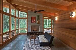 rangement bois de chauffage pour linterieur en 55 idees With tapis exterieur avec canapé salon cuir