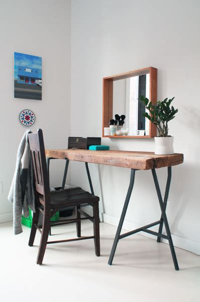 Diy Vanity Table Ikea by Picture Of Diy Home Office Reclaimed Desk