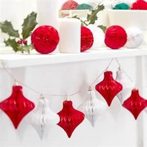 Deco Noel En Papier : decoration noel guirlande de pampilles papier so noel ~ Melissatoandfro.com Idées de Décoration