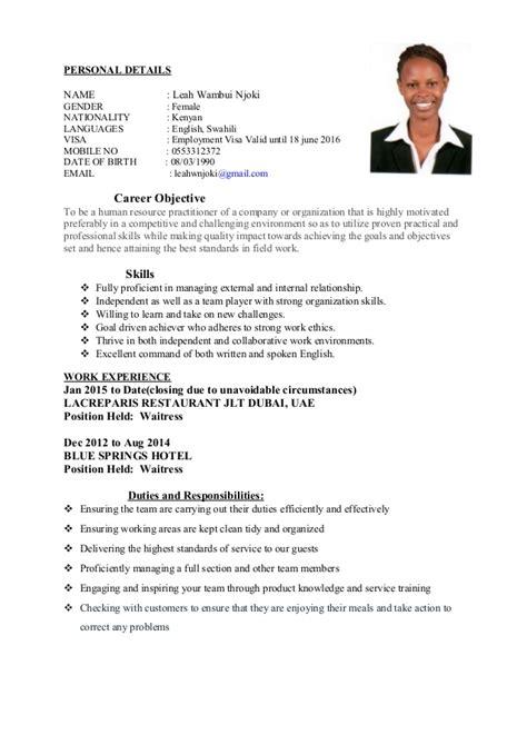 captain cover letter sle resume sle for waiter 28 images restaurant waiter