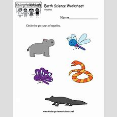 Earth Science Worksheet  Free Kindergarten Learning
