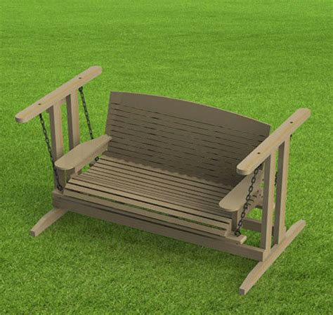 standing porch swing woodworking plans easy  build paper plans  ebay