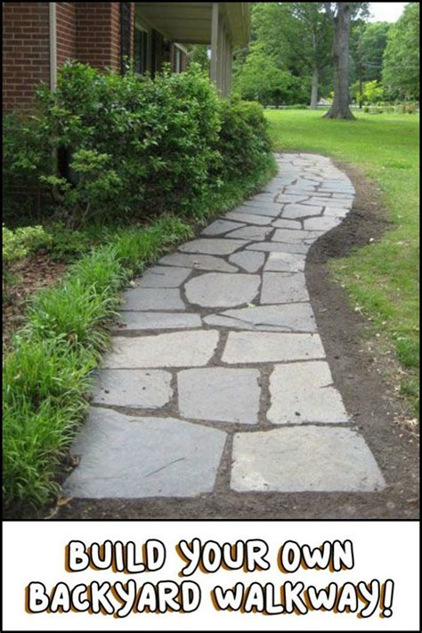 Build Your Own Backyard by How To Build Your Own Backyard Flagstone Pathway Garden