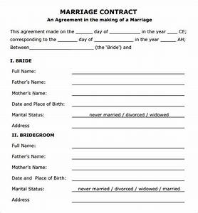 15 sample marriage contract template to download sample With wedding contract example