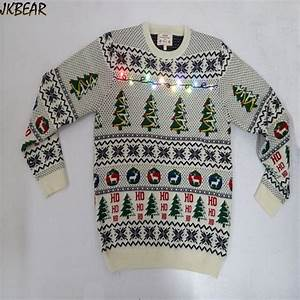 lights up ugly christmas sweaters with xmas tree reindeer With ho ho ho lighted letters