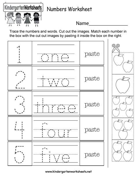 fun numbers activity worksheet  kindergarten