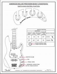 Controls  2014 Fender American Deluxe Precision  Model