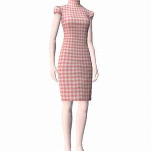 robe droite bardot vichy rose by bonnie03 the exchange With robe droite rose